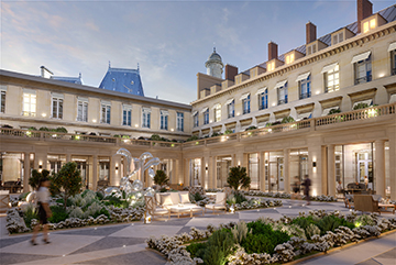3D Render of a prestigious yard in Paris